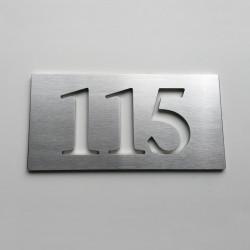 Design assemblé - Numéro Chambre Hôtel - Inox brossé - Taille 3, 5, 7 ou 10cm