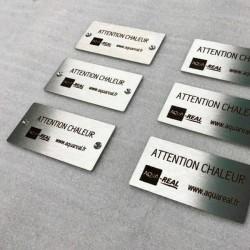 Plaque inox à personnaliser - Gravure laser - 100x50mm