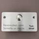 Sonnette inox brossé à personnaliser - 120x65mm / Gravure laser