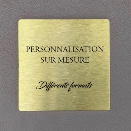 Plaque laiton gravée à personnaliser - carré - 50x50 / 100x100 / 125x125 / 150x150 / 200x200