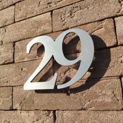 Design numéro assemblé - Inox brossé / Numéro au choix / Taille 3, 5, 7 ou 10cm