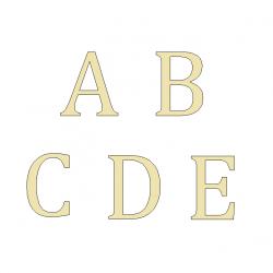 Lettres Laiton brossé - Design Lacier / Taille 5 ou 8.5 ou 10cm
