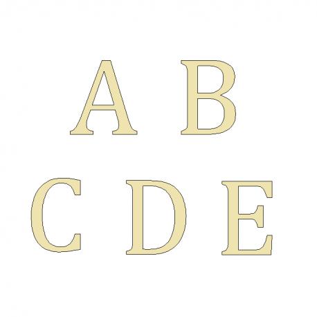 Lettres Laiton brossé - Design Lacier - Taille de 5 / 8.5 ou 10cm