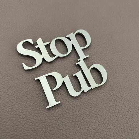Pictogramme STOP PUB 6x6cm