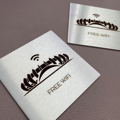Plaque inox à personnaliser 130x130mm - Gravure laser