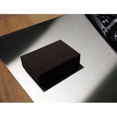 Eponge grain fin nettoyage inox brossé