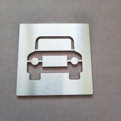 Pictogramme inox Parking Gratuit - 100x100 ou 150x150