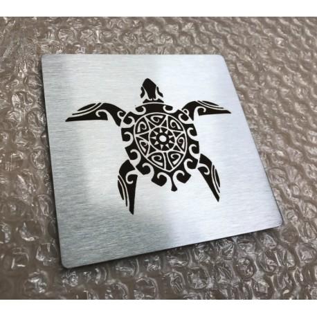 Plaque inox gravée à personnaliser - 100x100 / 150x150 / 200x200