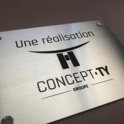 Plaque inox gravée à personnaliser 300x150mm - Gravure laser