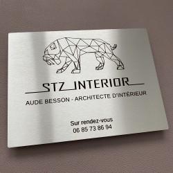 Plaque inox gravée à personnaliser 250x150mm - Gravure laser