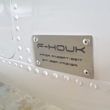 Plaque Avion en inox à personnaliser 100x50mm - Gravure laser