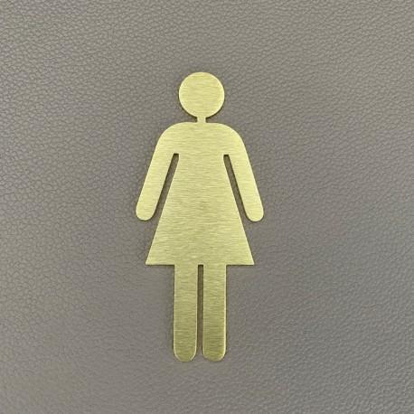 Pictogramme Laiton femme toilettes - 10 / 15cm