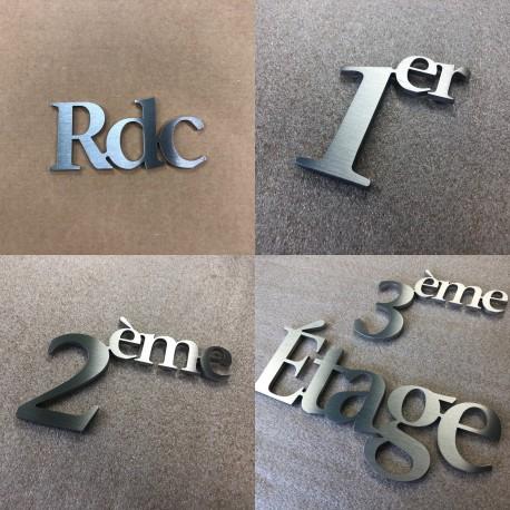 Design Assemblé - Rdc / 1er Etage / 2eme Etage - Inox brossé - Taille 50, 70 ou 100mm