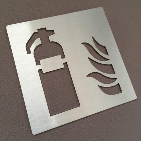 Pictogramme extincteur d'incendie - 100x100 ou 150x150mm