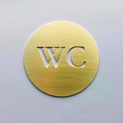 Pictogramme WC Laiton - Diam100 ou 150mm