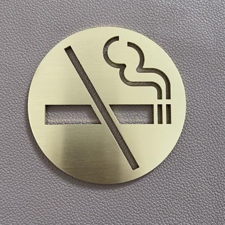 Pictogramme Ne pas fumer Laiton - Diam100 ou 150mm