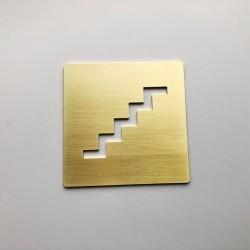 Pictogramme Escalier Laiton - 100x100 ou 150x150