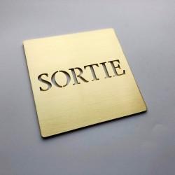 Pictogramme Sortie Laiton - 100x100 ou 150x150