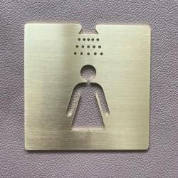 Pictogramme douche femme Laiton - 100x100 ou 150x150