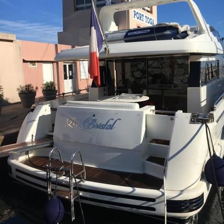 Design Candelcript - Enseigne pour bateaux - Hauteur de 5 à 100cm - Finition poli miroir ou brossé