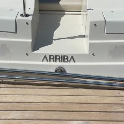 Design Viola - Enseigne pour bateaux - Hauteur de 5 à 100cm - Finition poli miroir ou brossé