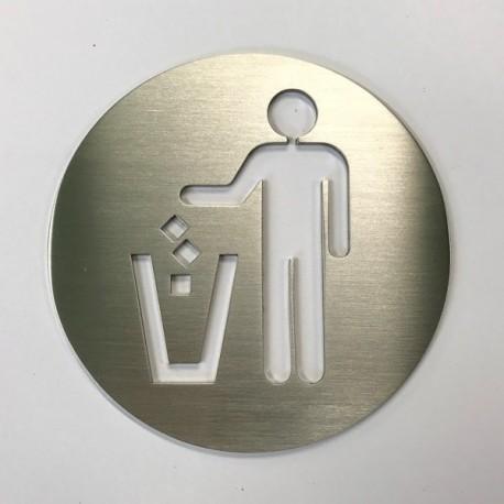 Pictogramme Jeter à la poubelle - 100x100 ou 150x150mm