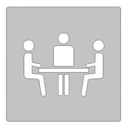 Pictogrammes réunion inox - 100x100 ou 150x150mm
