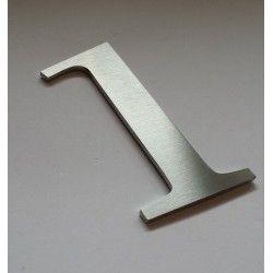 Chiffres inox brosse modele 2 numero 0