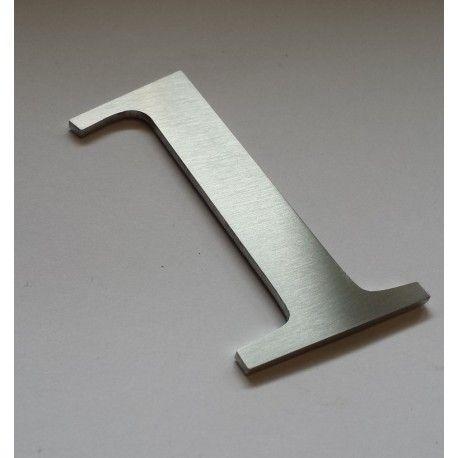 Chiffres inox brosse modele 2 numero 1