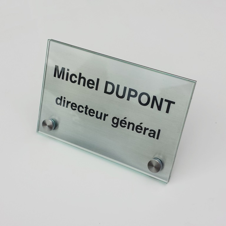Chevalet sur mesure inox + verre