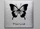plaque papillon