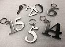Porte-clés chiffres inox